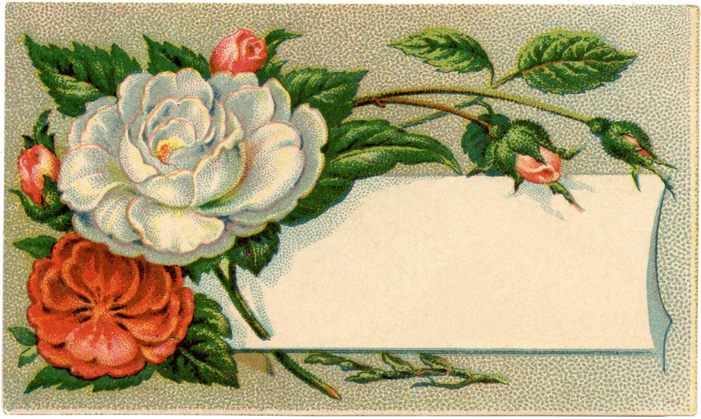 Antique Floral Calling Card Image