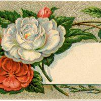 Antique Floral Calling Card Image