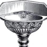 Antique Pedestal Sink Clip Art