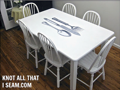 Cutlery Transfer Table with Chairs