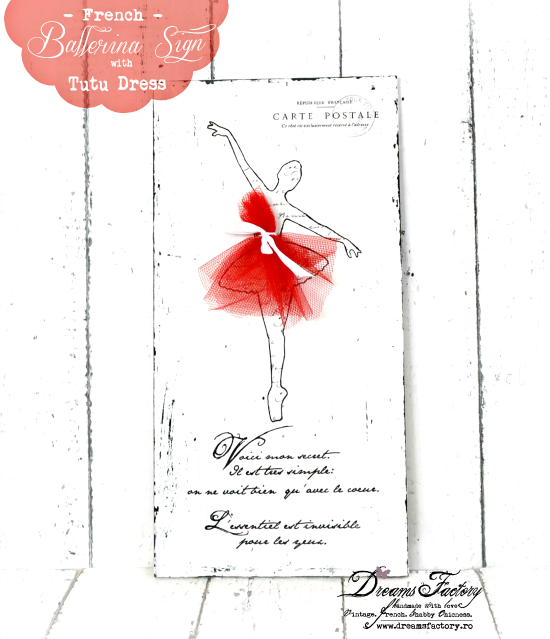 DIY Sign French Ballerina - Reader Featured Project