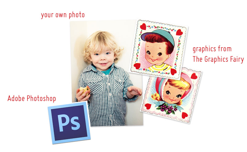 Photoshop Tutorial - Easy Valentine Day Collage