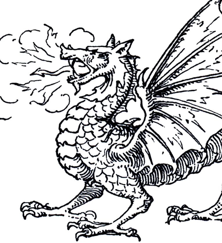 dragon clip art coloring pages - photo#23