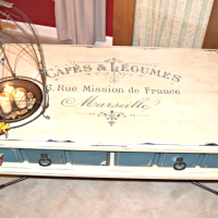 French Painted Coffee Table