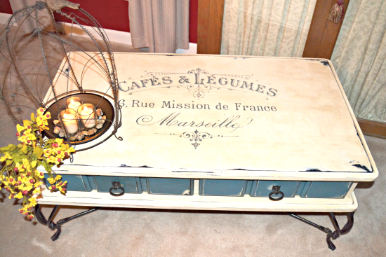 French Painted Coffee Table - Annie Sloan