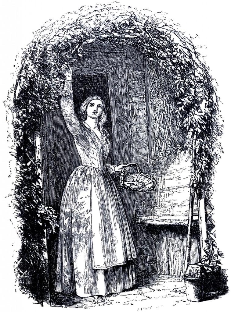 Vintage Garden Arbor Lady Image