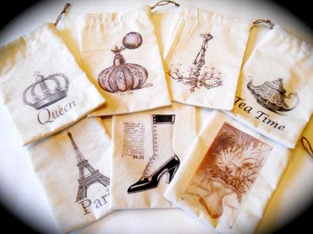 Handmade Muslin Bags