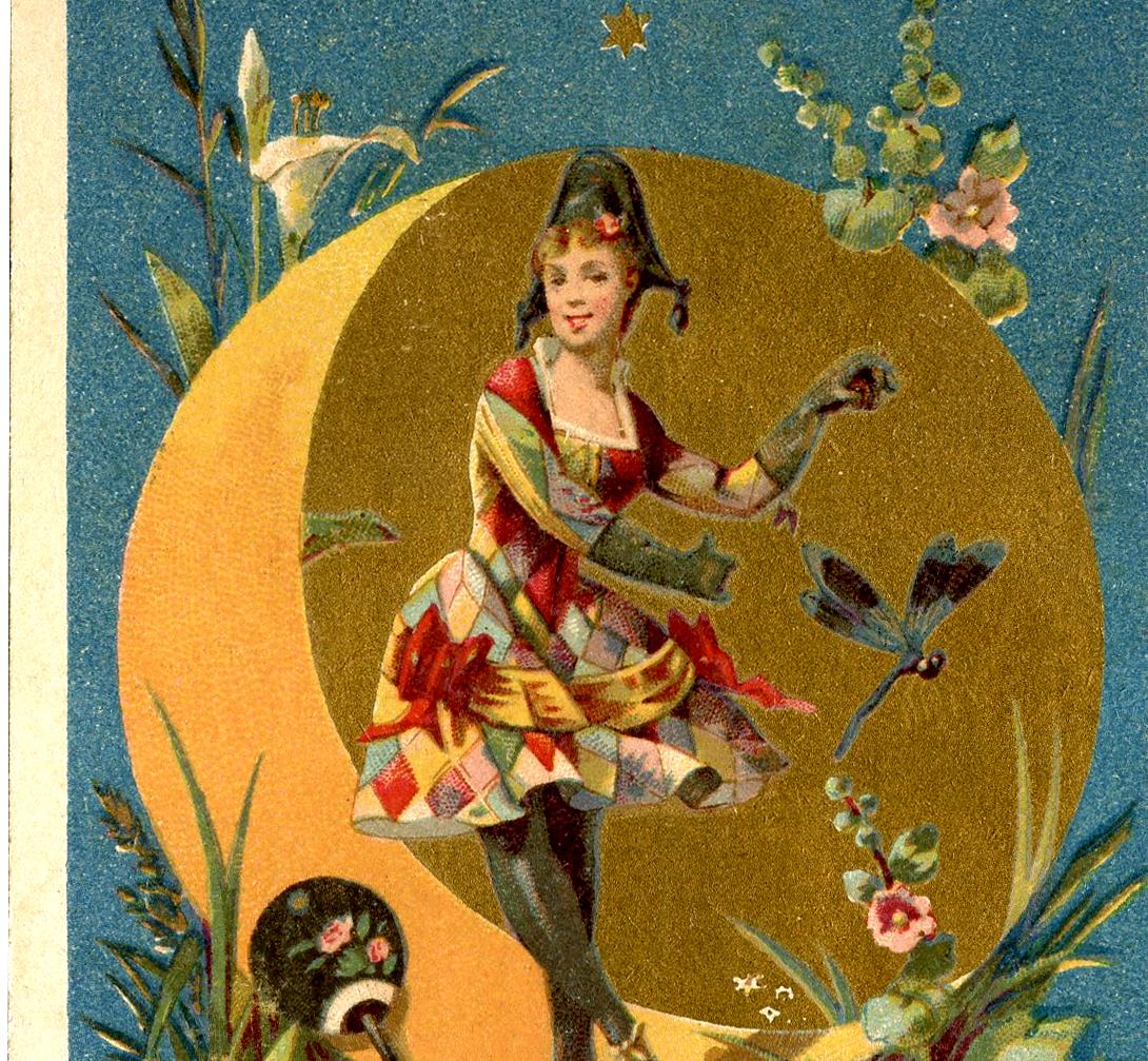 Gnome Garden: Harlequin Lady Dancer Image