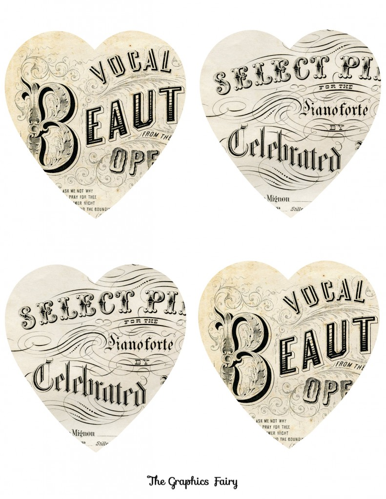 Heart Song Ephemera Printable