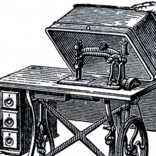 Old Fashioned Sewing Machine Image