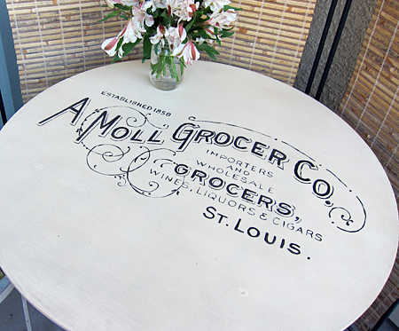 Painted Country Grocer Table DIY