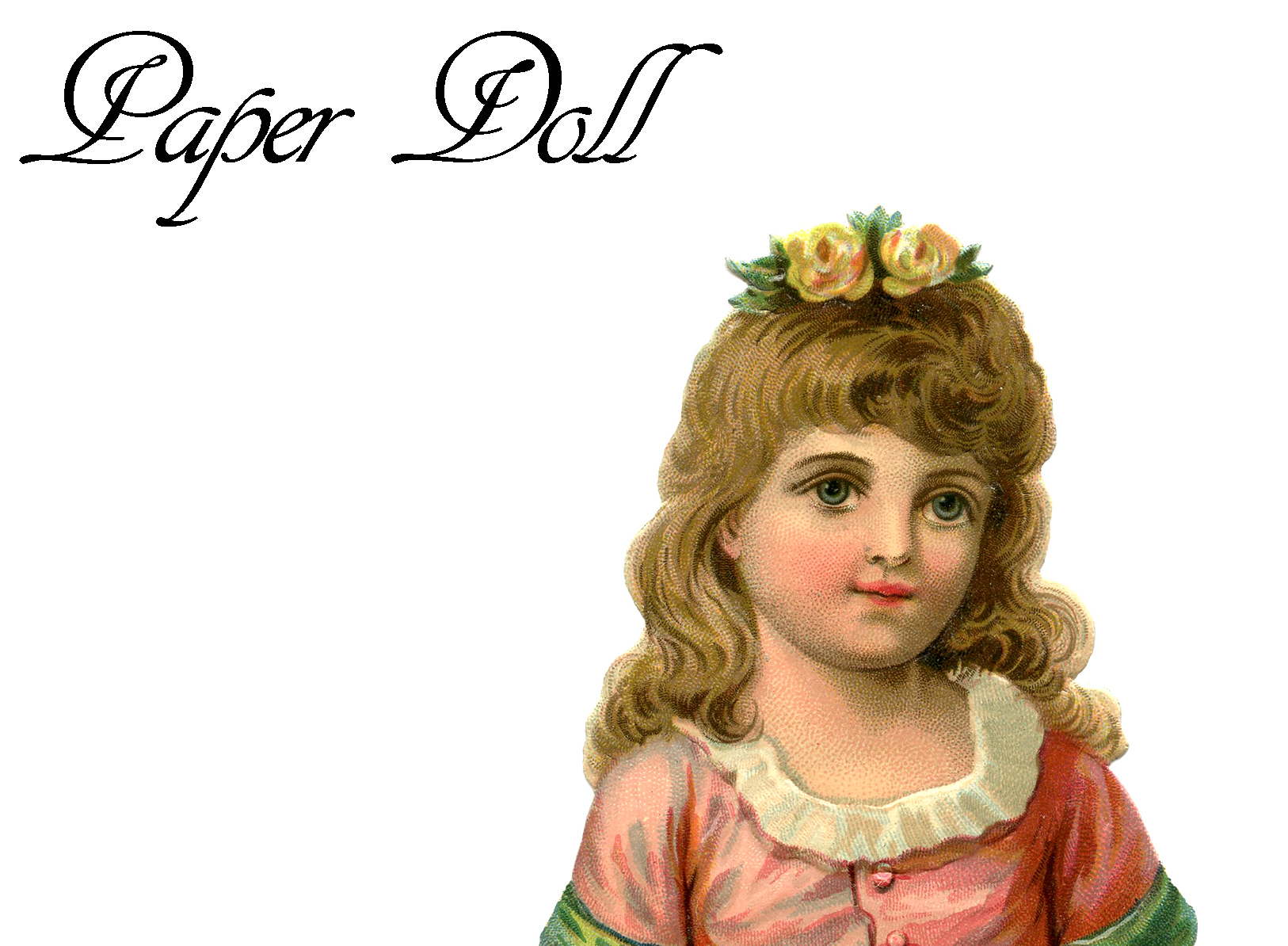 Vintage Printable Paper Doll Pretty Girl The Graphics