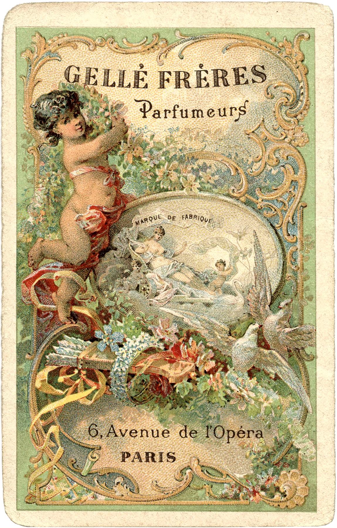 The Graphics Fairy: Romantic Paris Perfume Label