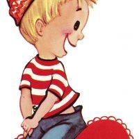 Retro Boy Valentine