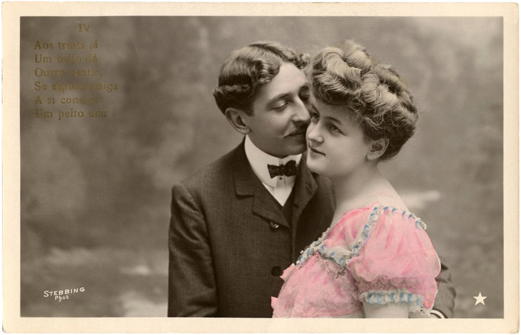 Romantic Couple Old Photo