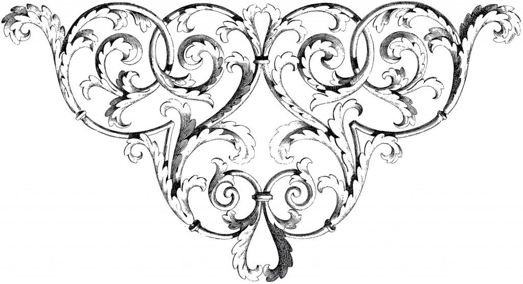 Scrolls Corner Ornament Image