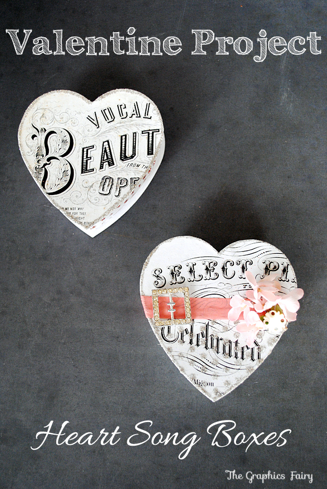 Valentine DIY Project Heart Song Box