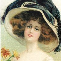 Victorian Hat Woman Image