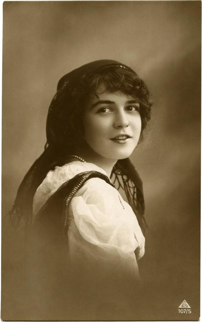 Vintage Bohemian Girl Photograph