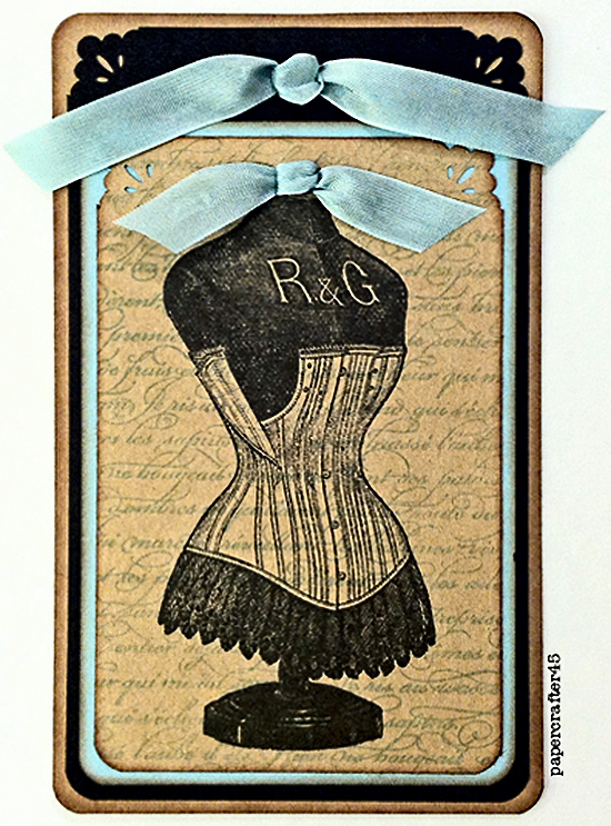 Vintage Craft Ideas - Corset Tag