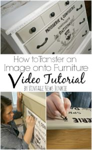 How to Transfer an Image onto Furniture Video Tutorial
