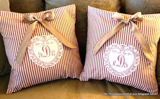DIY Monogrammed Pillow Covers - Reader Featured Project