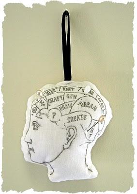 Phrenology Head Pin Cushion