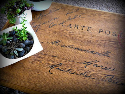 French Postcard Transfer Table