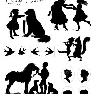 Silhouette Collage Sheet