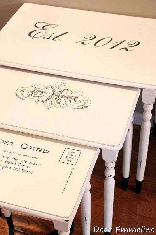 wedding nesting tables by Dear Emmeline