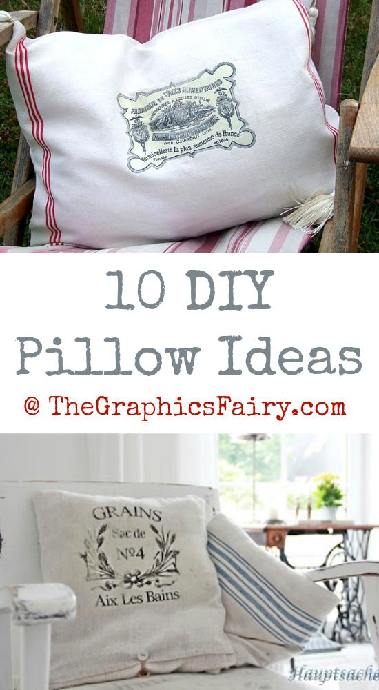 10 DIY Pillow Ideas