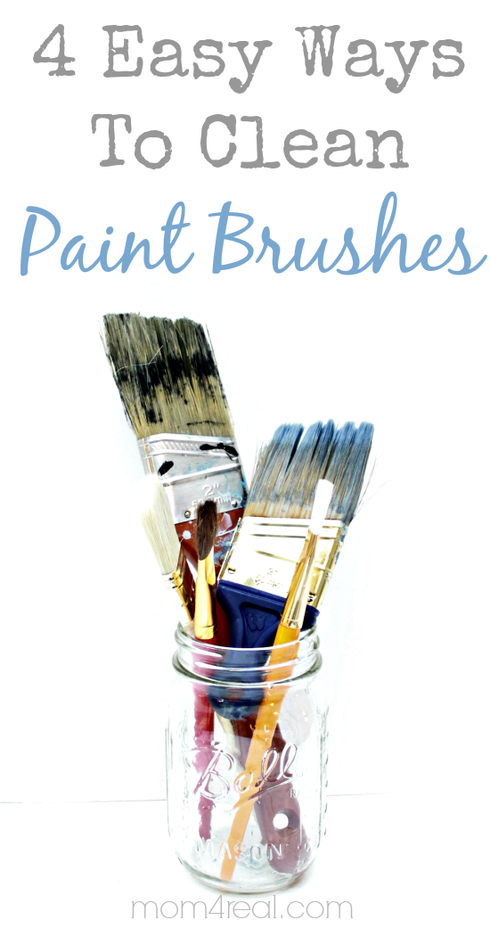 4 easy ways to clean paint brushes vintage household tip the graphics fairy. Black Bedroom Furniture Sets. Home Design Ideas