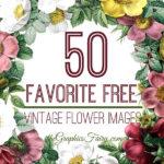 50 Free Vintage Flower Images