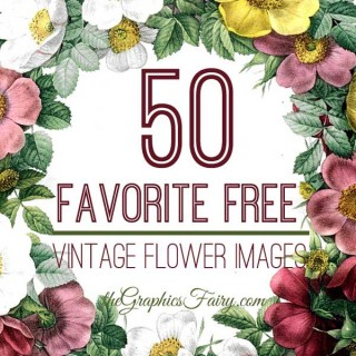 50 Favorite Free Vintage Flower Images!