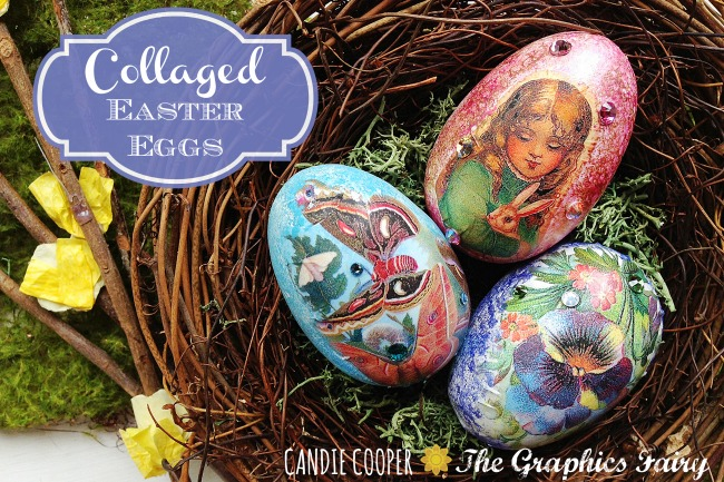 DIY Collaged Easter Eggs
