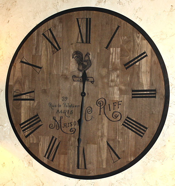 Diy french country clock the graphics fairy - Relojes grandes de pared vintage ...