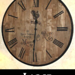 DIY Large Wall Clock from Tabletop