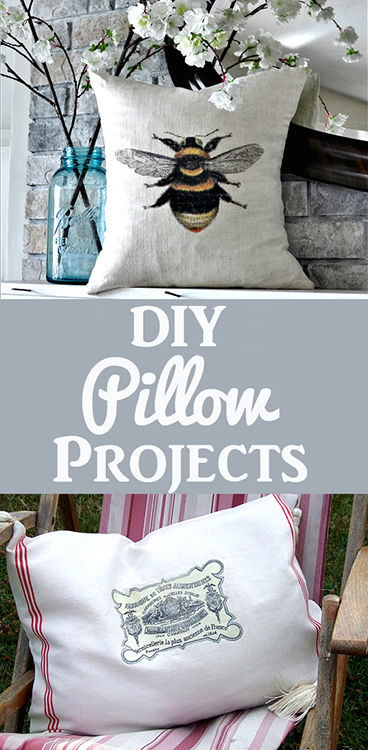 DIY Pillow Projects Pinterest Graphic