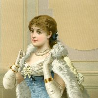 Fashion Plate Lady Image