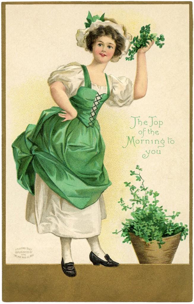 Irish Girl Picture The Graphics Fairy