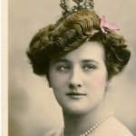 Vintage Lady with Crown Photo