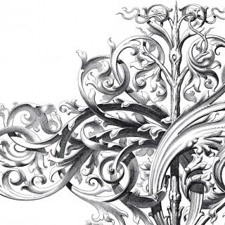 Spectacular Large Scrolls Ornament!