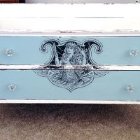 DIY Furniture Transfer Mermaid Dresser