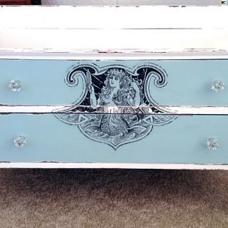 DIY Furniture Transfer Mermaid Dresser