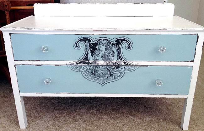 Diy furniture transfer mermaid dresser the graphics fairy for Furniture transfers
