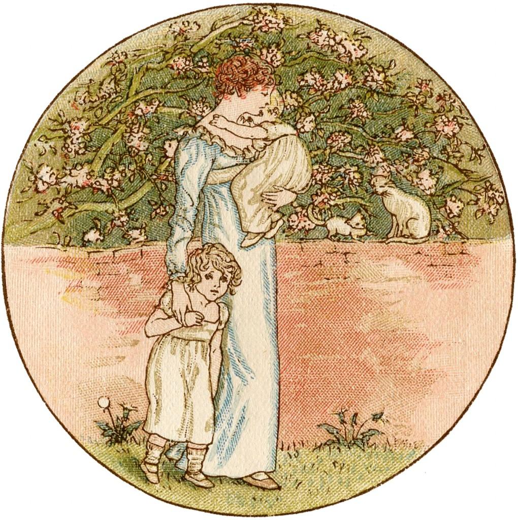 Vintage Mother's Day Illustration
