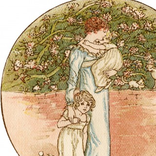 Vintage Mother's Day Illustration