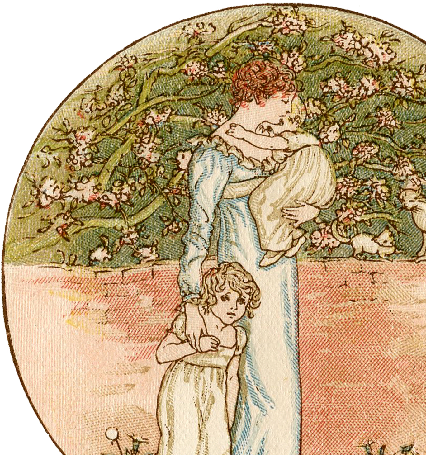 6 Mother S Day Illustrations By Kate Greenaway The Graphics Fairy