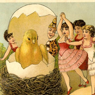 Quirky Vintage Easter Card!