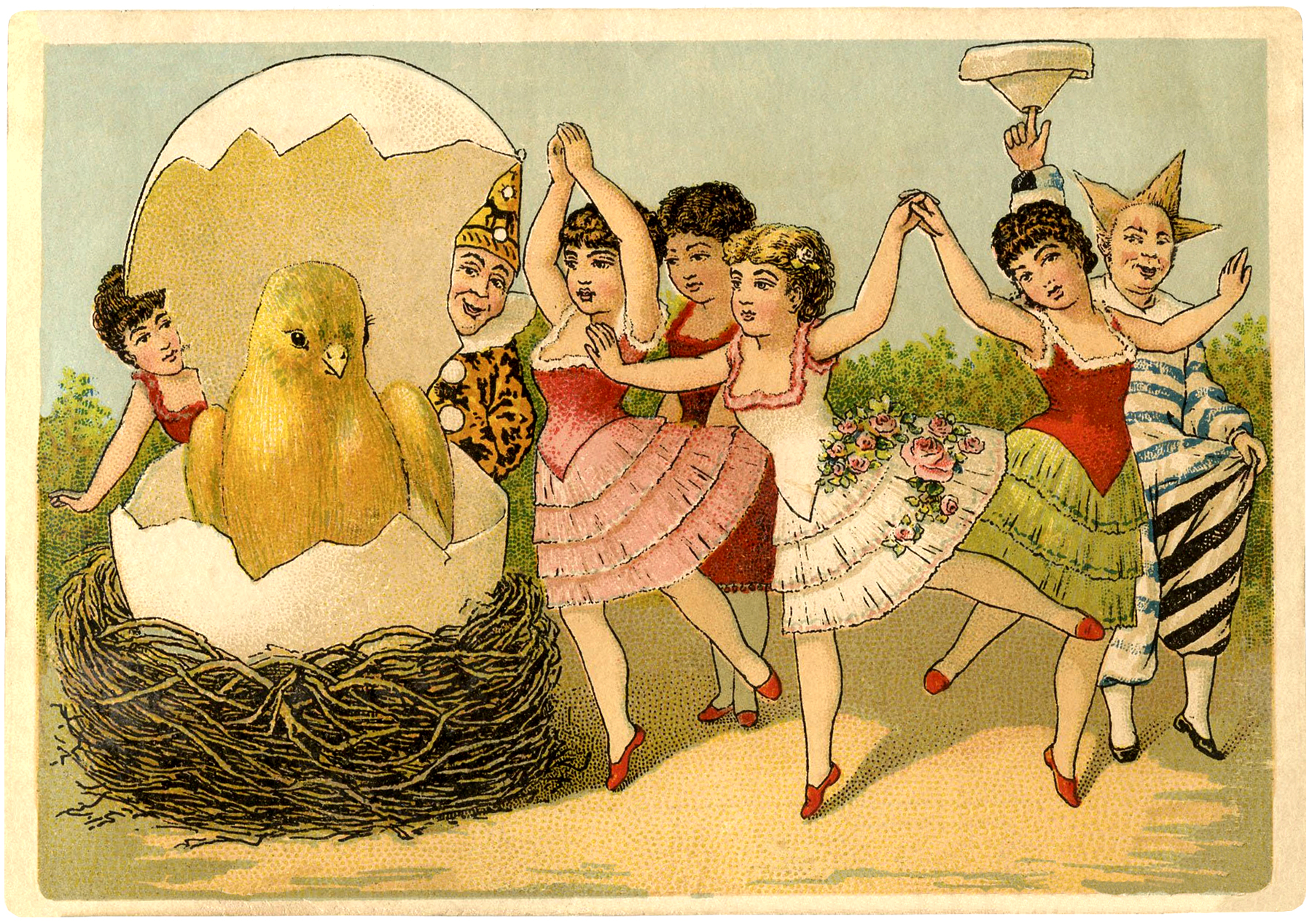 Quirky Vintage Easter Card The Graphics Fairy – Victorian Easter Cards